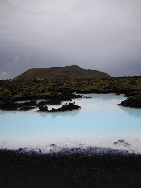 Approaching Blue Lagoon spa in Iceland.