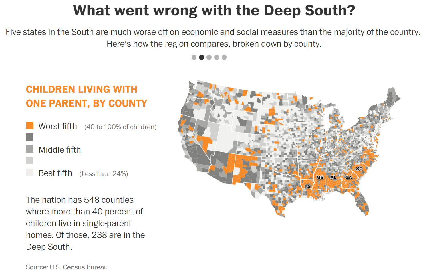 Poverty In America Southern Style Americas New - Us map of deep poverty