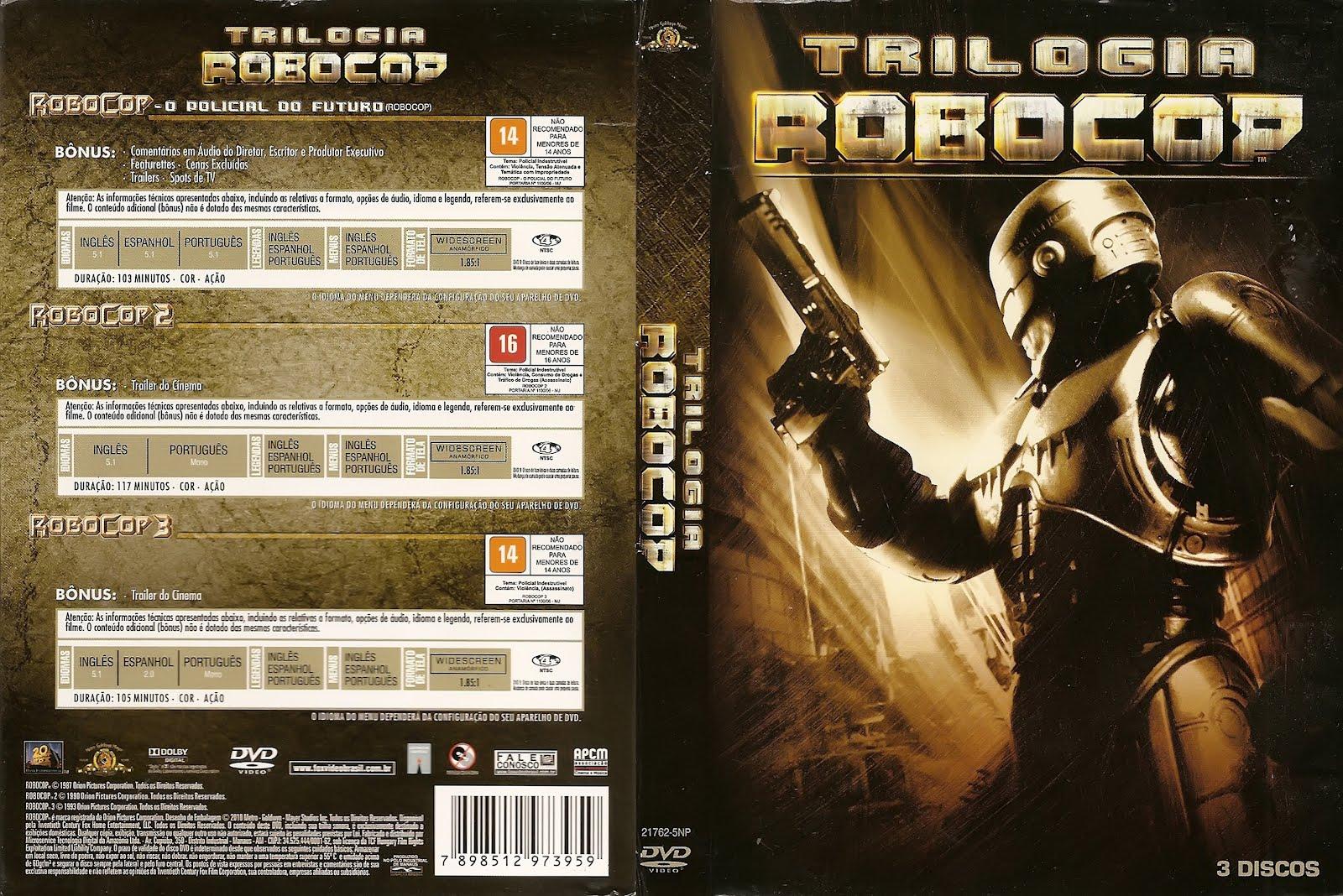 ROBOCOP - TRILOGIA em DVD