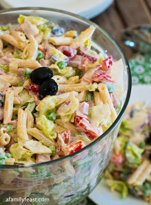 A Family Feast: Chopped Salad with Pasta