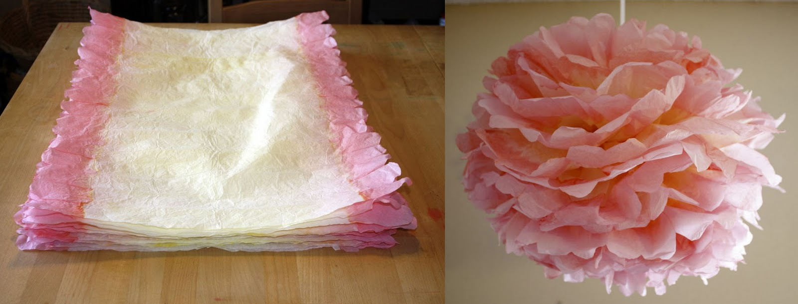 Ido It Myself Dyed Tissue Paper Pom Poms
