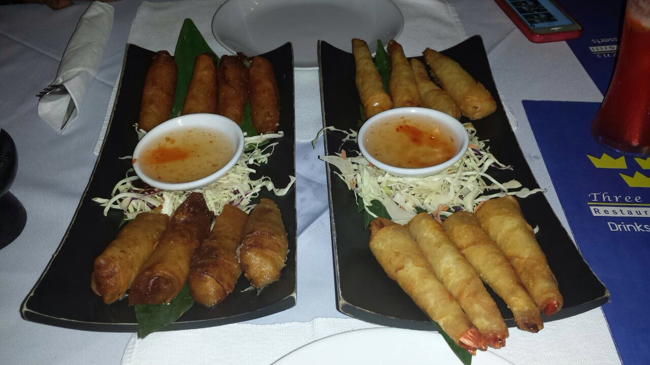 authentic thai vegetable spring rolls, authentic thai food, thai restaurants phuket