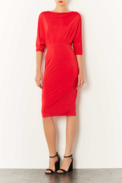 red open back dress