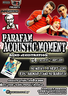 """PARAFAM ACCOUSTIC MOMENT"" supported by KFC"