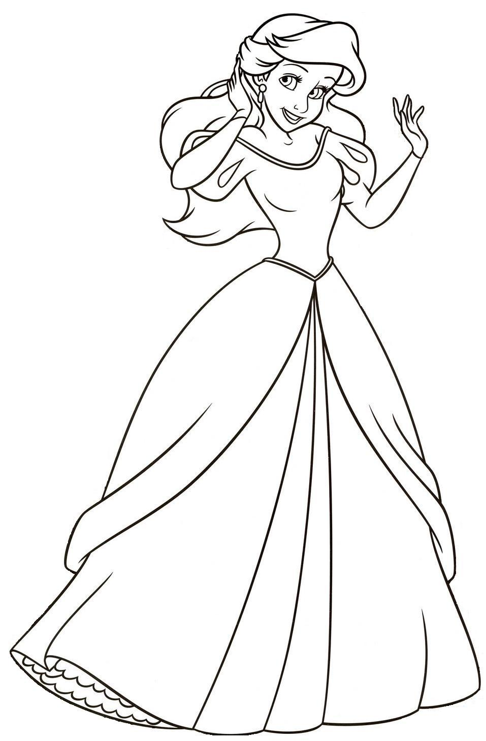 Único Princesa Disney Para Colorear Ariel Inspiración - Dibujos Para ...