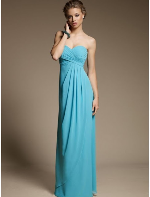 Chiffon Sweetheart Strapless Neckline Empire Bridesmaid Dress with Pick-up Skirt