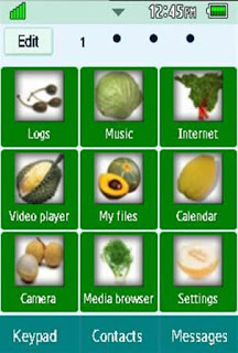 General Healthy, Vegetables, Fruits Samsung Corby 2 Theme 4 Menu