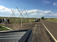 Tipis going up in path of Dakota Access pipeline
