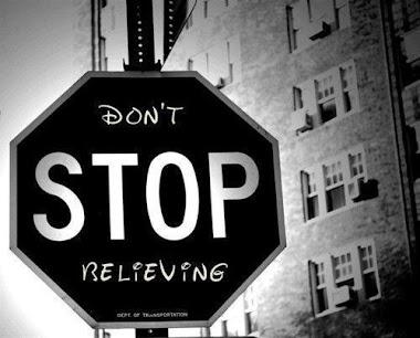No dejes de creer.