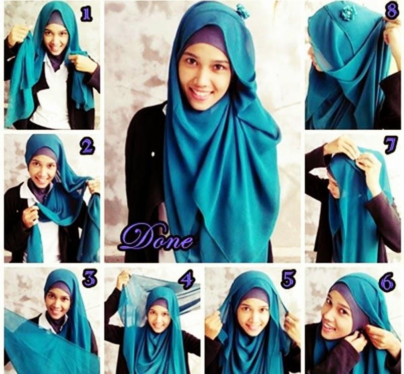 hijab tutorial paris simple terbaru segi empat