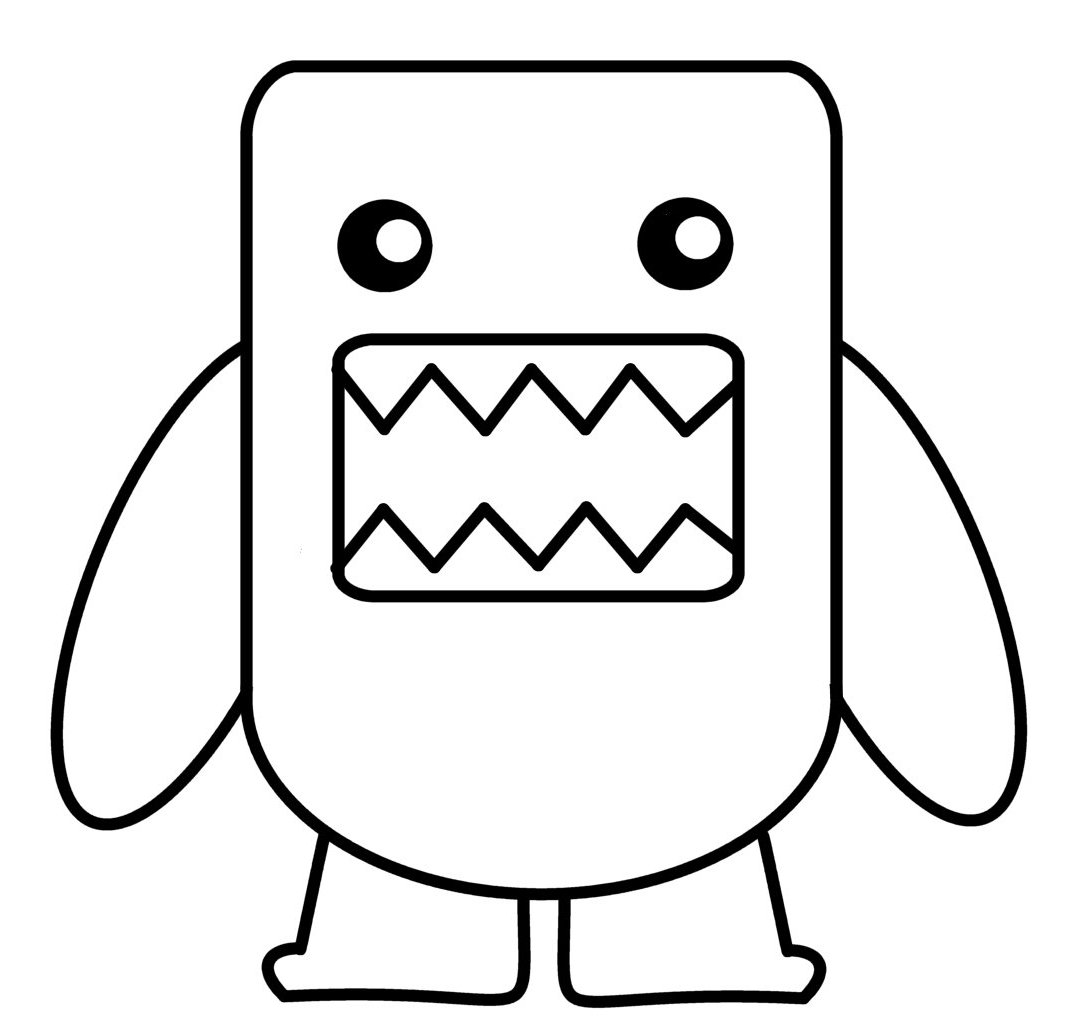domo kun coloring pages - photo#15