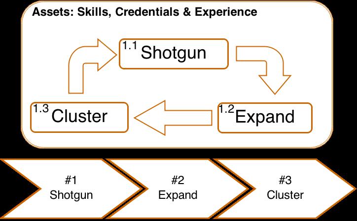 Shotgun --> Expand --> Cluster