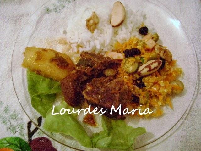 Farofa de Cenoura, úmida, deliciosa da Lourdes Maria.