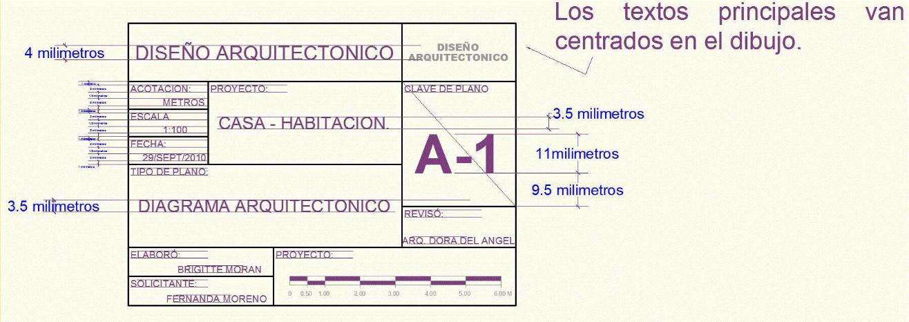 Dibujo de proyectos ejecutivos en la construccion for Pie de plano arquitectonico pdf