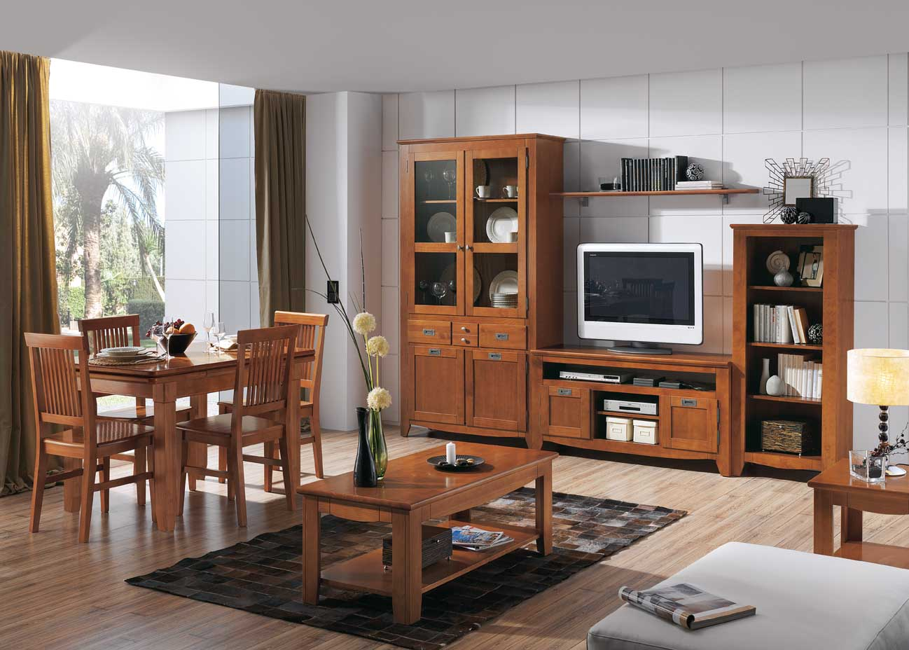 Uni n fabricantes de tresillos librer as de pino en uni n - Muebles de valencia fabricantes ...