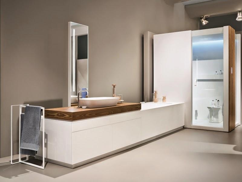 Modernos m veis de casa de banho em branco decora o e - Rifare un bagno fai da te ...