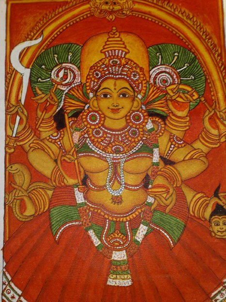 Bindu gouri 39 s note pad mural paintings for Canvas mural painting