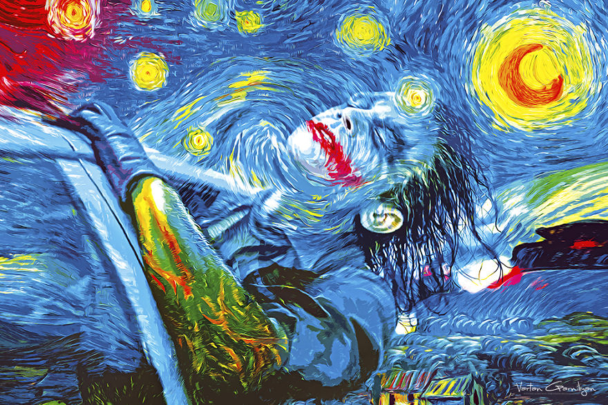 01-The-Starry-Night-Vincent-van-Gogh-Vartan-Garnikyan-Works-of-Art-Paintings-Batman-and-Joker-Themed-www-designstack-co