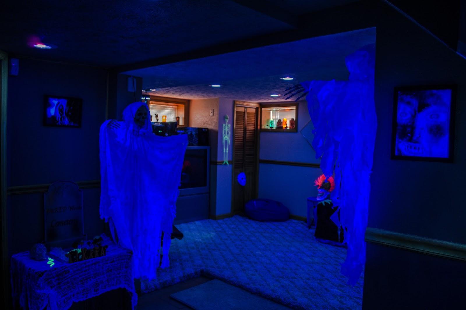 Black light in bedroom