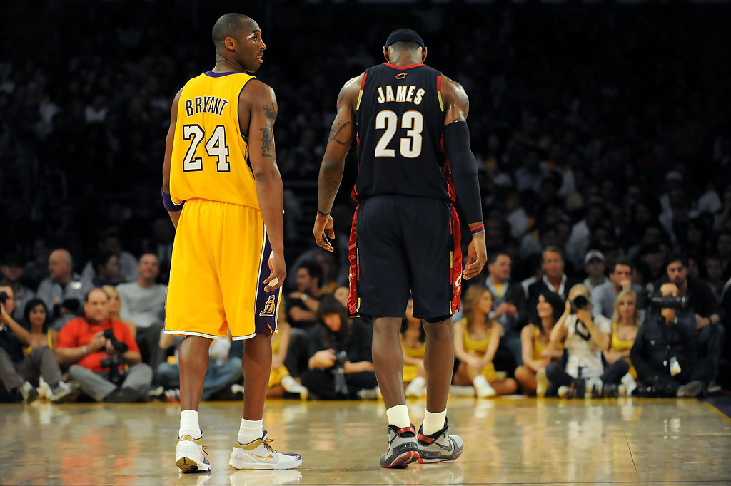 kobe and lebron Lebron james is coming to los angeles, but will kobe bryant come out of retirement to play with him we've got the exclusive.