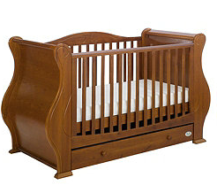 Crib, Tutti Bambini, crib with storage, crib with drawer