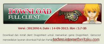 Full Client Dragon Nest