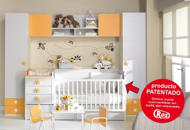 Este modelo de cuna convertible con puente y armario encima - Habitaciones infantiles 2 camas ...