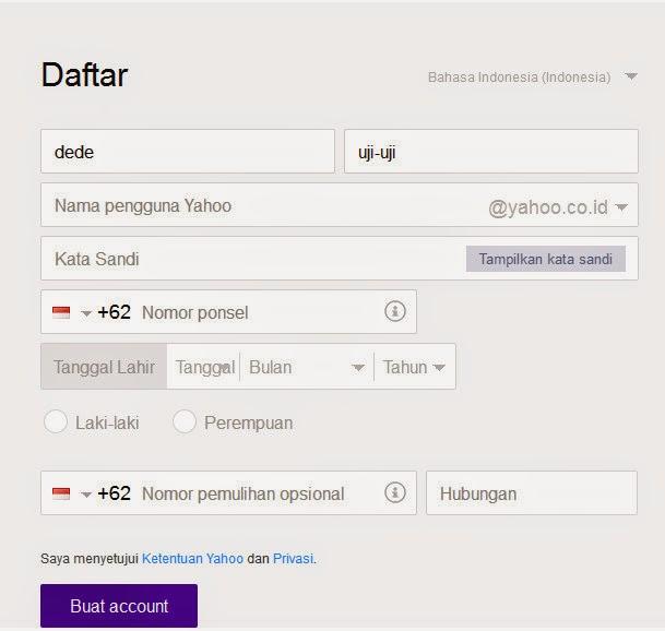 Cara bikin email yahoo indonesia   CARA DAFTAR MEMBUAT