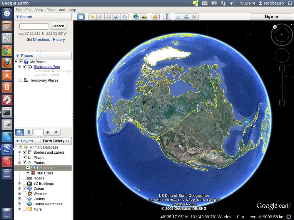 descargar gratis google earth 2013