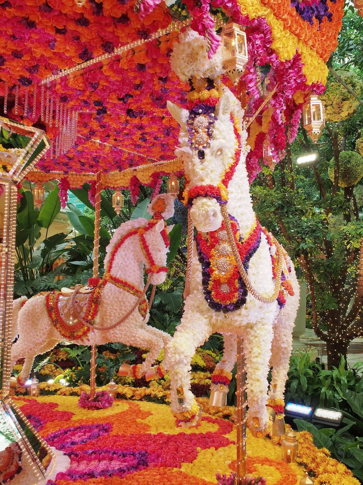 Carousel Horse, #carousel #horse #wynn #lasvegas #flowers #carouselhorse