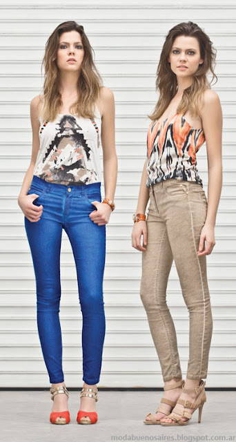 Markova jeans moda verano 2014. Pantalones de mujer. Moda 2014.
