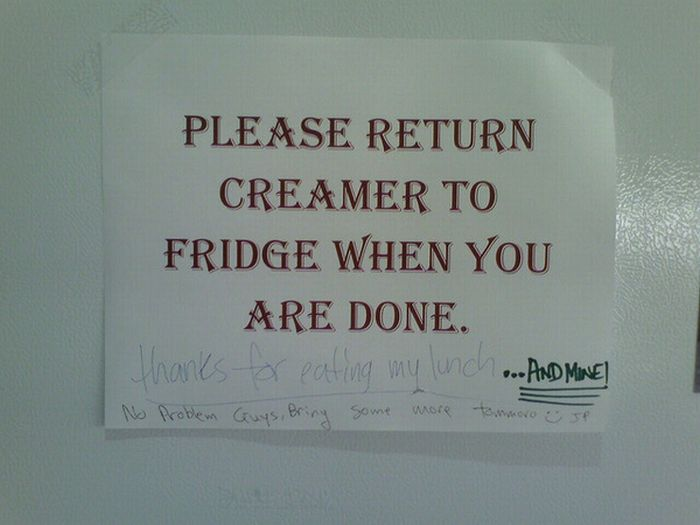 The Best Passive Aggressive Fridge Notes Damn Cool Pictures