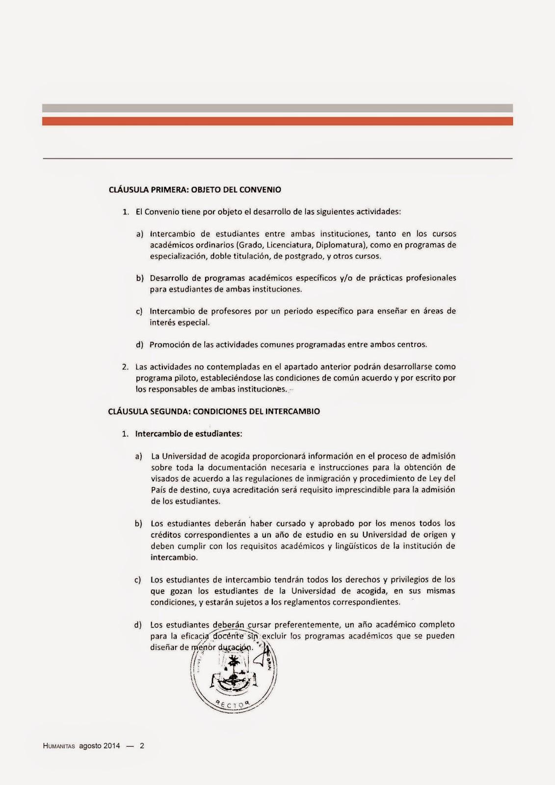 Humanitas: Convenio marco de cooperación UNGE-UFV
