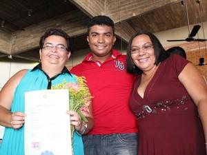 Filho de Lurdes comemora união de sua mãe com Rosangela (Foto: Gil Oliveira)
