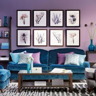 decoración sala colores vivos