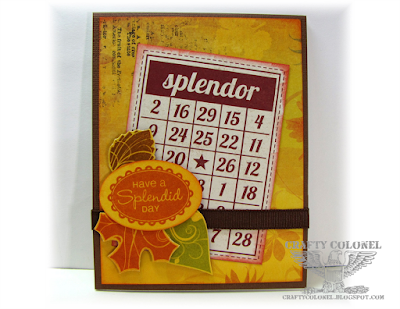 CraftyColonel Donna Nuce for Cards in Envy Challenge blog, Stamps CTMH Harvest Happiness, Fall card