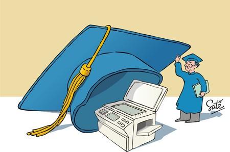 Tranh biếm họa bằng cấp trong giáo dục