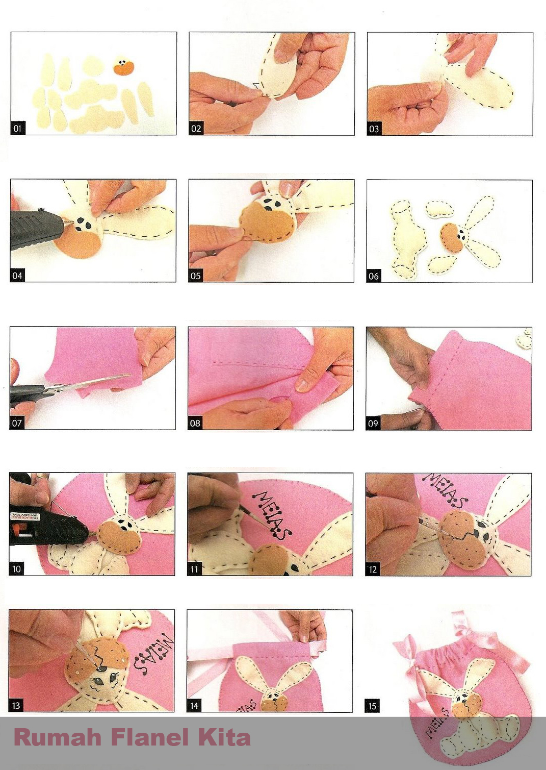 Cara Membuat Kerajinan Tangan Dari Flanel Tutorial Panduan