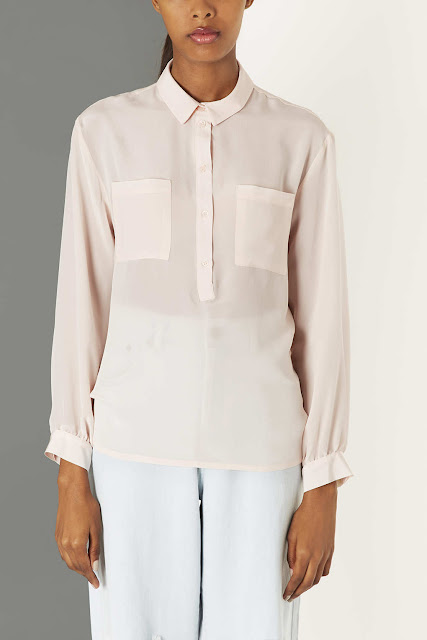 pale silk shirt