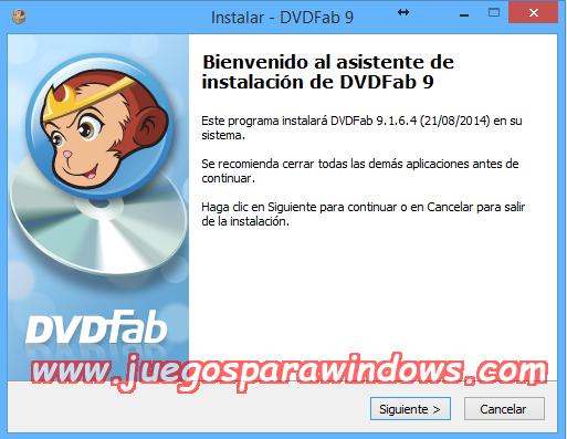 DVDFab v9.1.6.8 Multilenguaje ESPAÑOL Copia DVD/Blu-ray a Otros Formatos