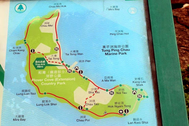 Tung Ping Chau Map