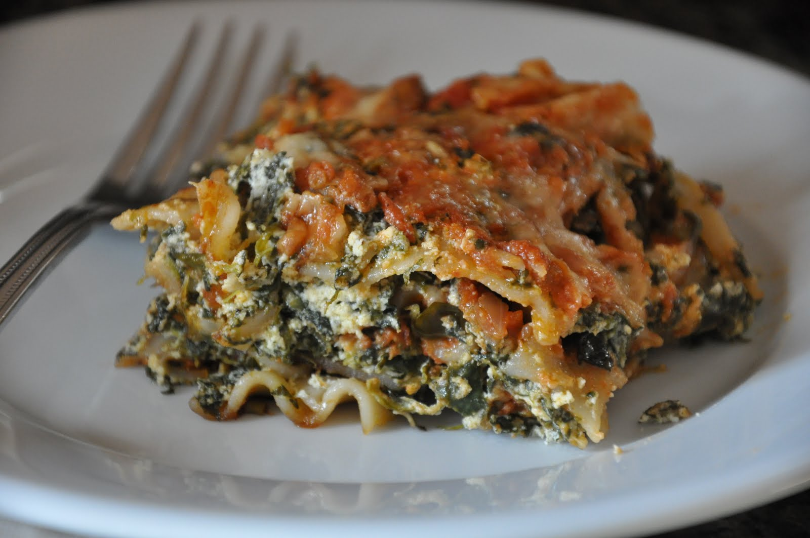 Spinach and Kale Lasagna- Gluten Free