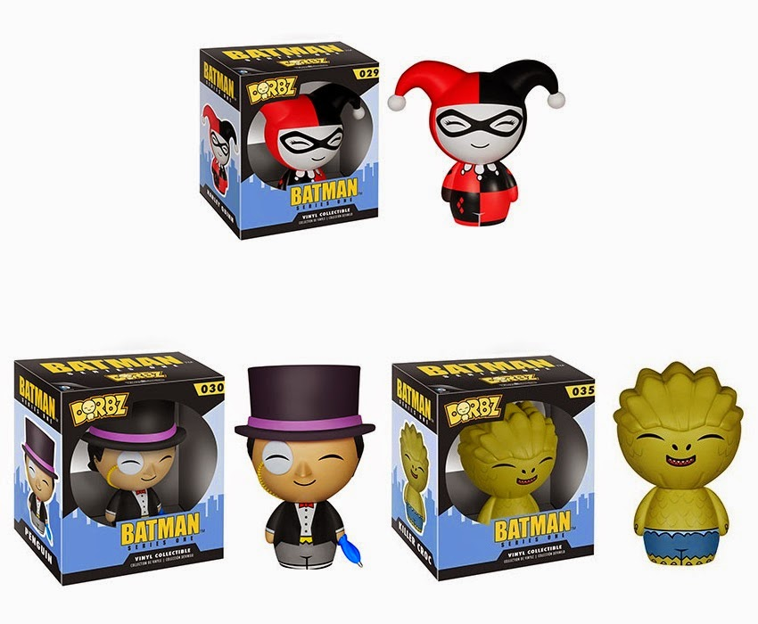Batman Dorbz Vinyl Figures Series 1 by Funko - Harley Quinn, The Penguin & Killer Croc