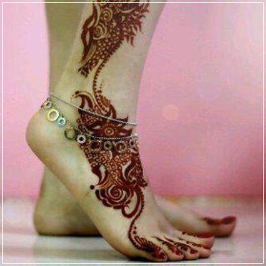 Beautiful Feet Mehndi Designs : Beautiful mehandi designs for feet and legs stylishwife