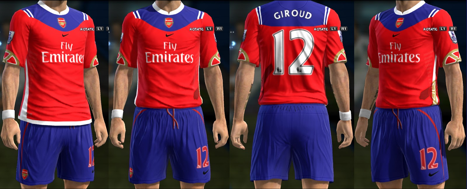 Download Fantasy Kits Arsenal PES 2013 | Mediafire