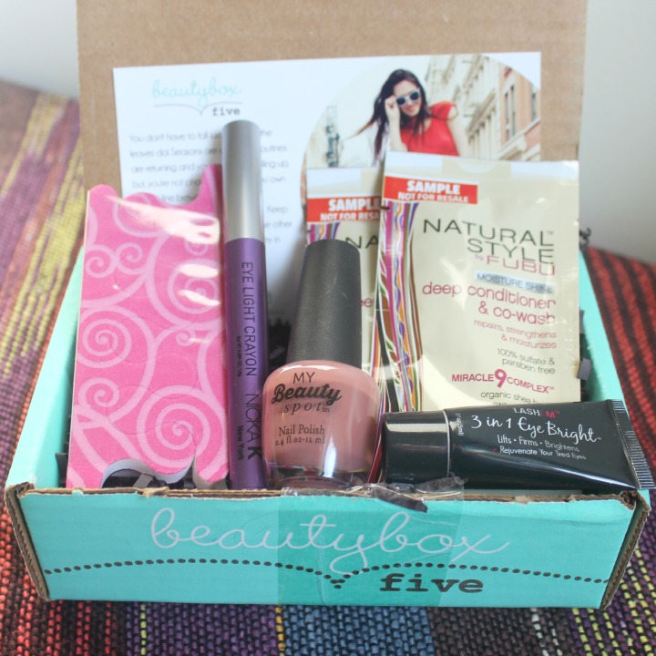 Beauty Box 5 - September 2014 Review & Unboxing