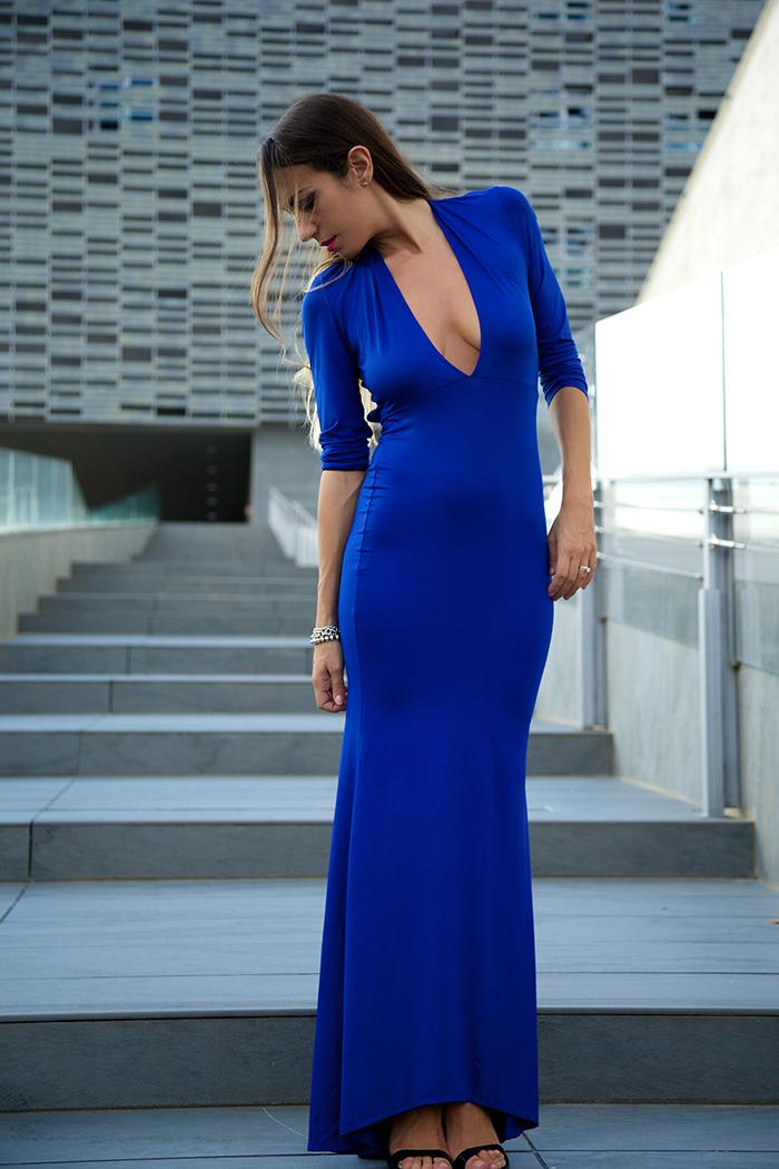 abito da sera blu elettrico