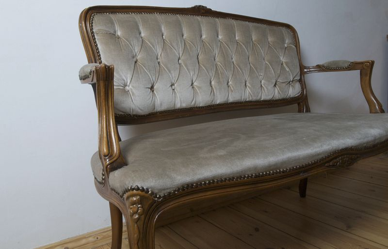 Ppning Antique 19th Century French Louis Xv Style Sofa Loveseat