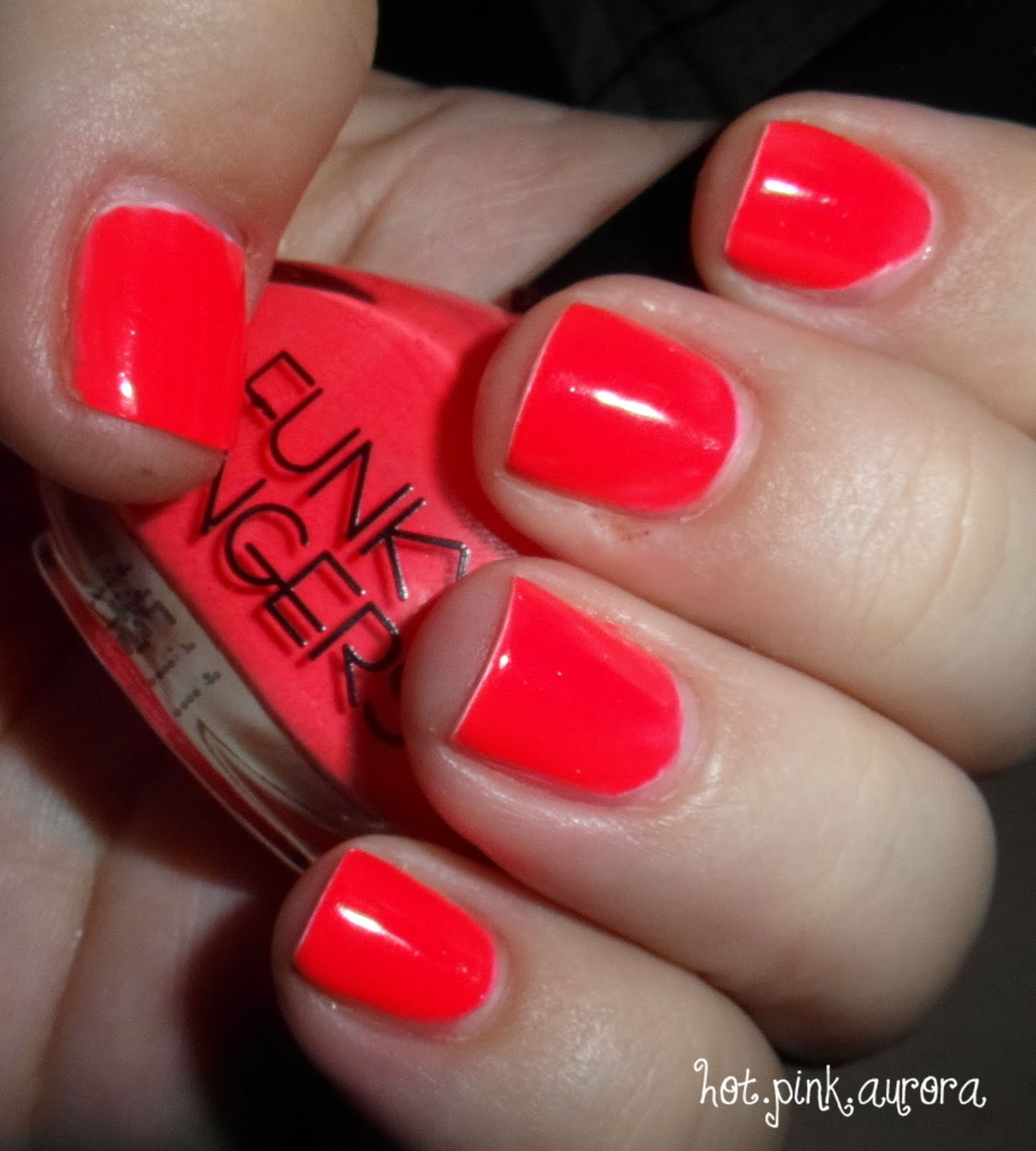 "Red Nail Polish On Thumb: Hotpinkaurora: Funky Fingers ""Kingston"" Neon Nail Polish"