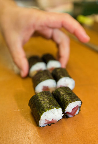 Makisushi - sushi in a roll